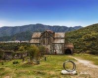 Монастырь Akhtala в крепости Prnjak Akhtala в ущелье реки Debed в зоне Лори стоковые фотографии rf