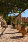 Монастырь Arkadi, Крит Moni Arkadiou! стоковое изображение