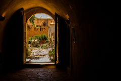 Монастырь Arkadi, Creta, Греция Стоковое Изображение RF