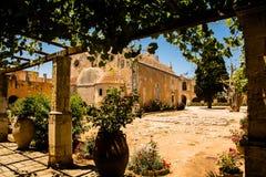 Монастырь Arkadi, Creta, Греция Стоковое фото RF