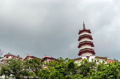 Монастырь 10000 buddhas в Гонконге, Китае Стоковое Фото