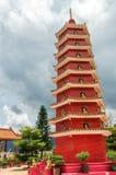 Монастырь 10000 buddhas в Гонконге, Китае стоковые фотографии rf