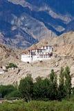 Монастырь Chemdey, Leh-Ladakh, Джамму и Кашмир, Индия Стоковая Фотография RF
