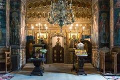 Монастырь Cozia внутрь Стоковое фото RF