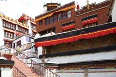 Монастырь Diskit в долине Nubra, Ladakh, Индии Стоковое Изображение RF