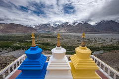 Монастырь Diskit, долина Nubra, северная Индия стоковое фото rf
