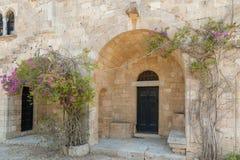 Монастырь Filerimos, острова Родоса, Греции стоковое фото