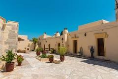 Монастырь (friary) в долине Messara на острове Крита в Греции стоковое изображение