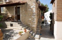 Монастырь (friary) в долине Messara на острове Крита в Греции Стоковые Фотографии RF