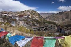 Монастырь Ganden в Тибете - Китае Стоковое фото RF