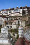 Монастырь Ganden в Тибете - Китае Стоковая Фотография RF