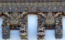 Монастырь Gangtey украшения Стоковые Изображения