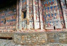 Монастырь Gura Humorului детали фрески Стоковые Изображения