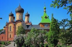 Монастырь htitsa ¼ PÃ, Kuremäe, Эстония, балтийские страны стоковое фото rf