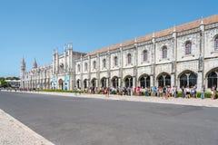 Монастырь Jeronimo в Лиссабоне, Португалии Стоковые Фото