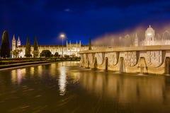 Монастырь Jeronimos - Лиссабон Португалия стоковое фото rf