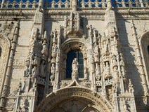 Монастырь Jeronimos, Belem, Лиссабон, Португалия Стоковые Фотографии RF