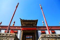 Монастырь Kumbum, taersi, в Цинхае, Китай Стоковое фото RF