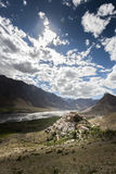 Монастырь Kye или монастырь ki Стоковое фото RF