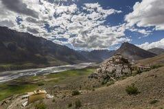 Монастырь Kye или монастырь ki Стоковая Фотография
