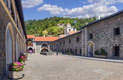 Монастырь Kykkos в Troodos Кипр Стоковые Изображения