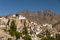 Монастырь Lamayuru Budhist, Ladakh, Индия Стоковое фото RF