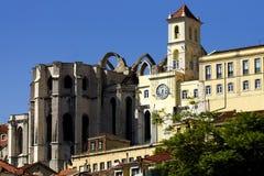 монастырь lisbon s carmo Стоковое Изображение