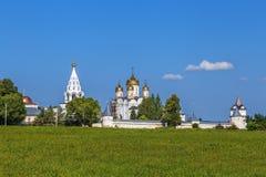 Монастырь Luzhetsky, Mozhaysk, Россия Стоковые Фотографии RF