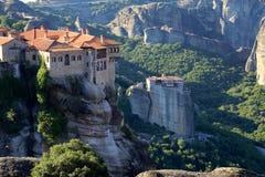 Монастырь Meteora в Греции стоковая фотография