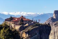 Монастырь Meteora Греции Стоковые Фотографии RF