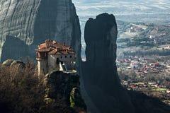 Монастырь Meteora Стоковые Фото