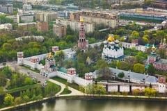 монастырь moscow novodevichiy Россия стоковое фото