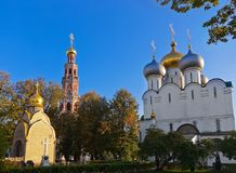 Монастырь Novodevichiy в Москва России стоковая фотография rf