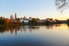Монастырь Novodevichiy в Москва России стоковое изображение rf
