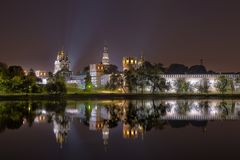 Монастырь Novodevichy, также известный как монастырь Bogoroditse-Smolensky стоковые фотографии rf