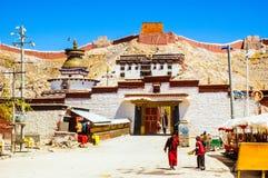 Монастырь Palkor сцены-Gyangze тибетского плато (висок Baiju) стоковое изображение rf