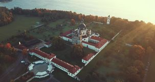 Монастырь Pazaislis и церковь, вид с воздуха трутня акции видеоматериалы