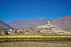 Монастырь Pibting, долина Zanskar, Ladakh, Джамму и Кашмир, Индия Стоковое фото RF