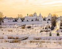 Монастырь Pokrovsky в Suzdal. Россия стоковое изображение