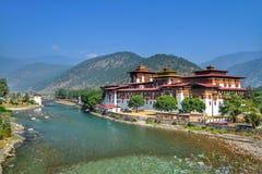 Монастырь Punakha Dzong или Pungthang Dewachen Phodrang стоковые фото