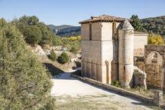 Монастырь San Pedro de Arlanza в Hortiguela, Бургосе, Испании стоковое фото rf