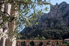 Монастырь Santa Maria de Монтсеррата Взгляд Monserat от монастыря barcelona Каталония Испания Стоковые Фото