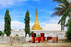 Монастырь Shwe Yan Pyay, Nyaungshwe, Мьянма Стоковая Фотография RF