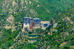 Монастырь Simonopetra, Mount Athos Стоковое фото RF