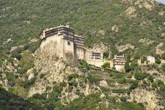 Монастырь Simonos Petras Стоковые Изображения
