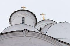 Монастырь Spaso-Priluckiy в зиме Vologda Стоковые Изображения RF
