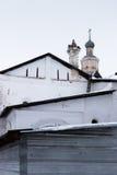 Монастырь Spaso-Priluckiy в зиме Vologda Стоковая Фотография