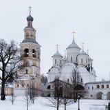 Монастырь Spaso-Priluckiy в зиме Vologda Стоковые Фотографии RF
