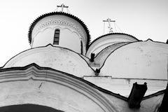 Монастырь Spaso-Priluckiy в зиме Vologda Стоковые Изображения
