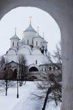 Монастырь Spaso-Priluckiy в зиме Vologda Стоковое фото RF